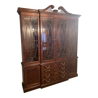 1990s Aston Court by Henredon China Cabinet/Breakfront For Sale