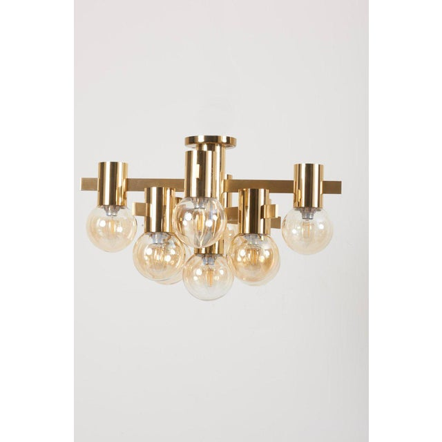 1960s Midcentury Flush Mount by Sciolari For Sale - Image 5 of 13