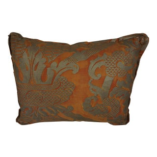 Single Bittersweet Colored Fortuny Textile Pillow For Sale