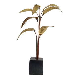 1970s Mid-Century Modern Hand-Crafted Plant Sculpture For Sale