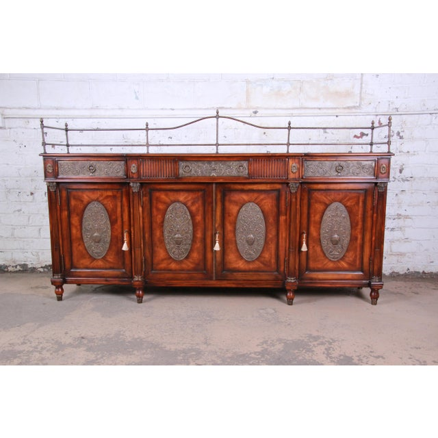 Theodore Alexander Regency Style Flame Mahogany Sideboard or Bar Cabinet For Sale - Image 13 of 13