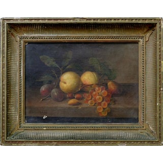 Paul LaCroix 19th Century Fruit Still-Life Oil Painting on Canvas For Sale