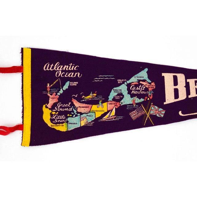 American Bermuda Islands Vintage Pennant For Sale - Image 3 of 5