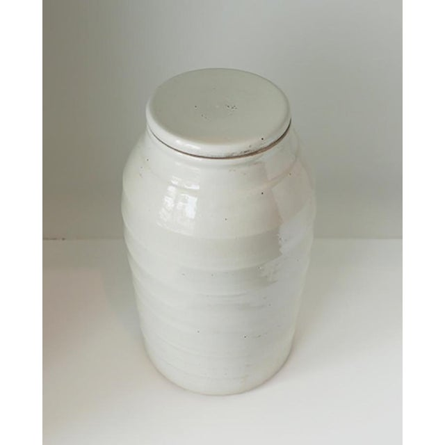Mid-Century Modern 1980s Organic White Jar With Lid For Sale - Image 3 of 6