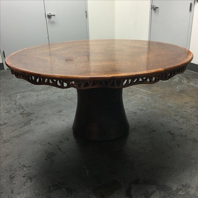 New Martin Pierce Hedgerow Circular Dining Table For Sale - Image 4 of 11