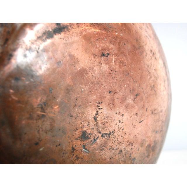 Antique Copper Cauldron Kettle For Sale - Image 9 of 9
