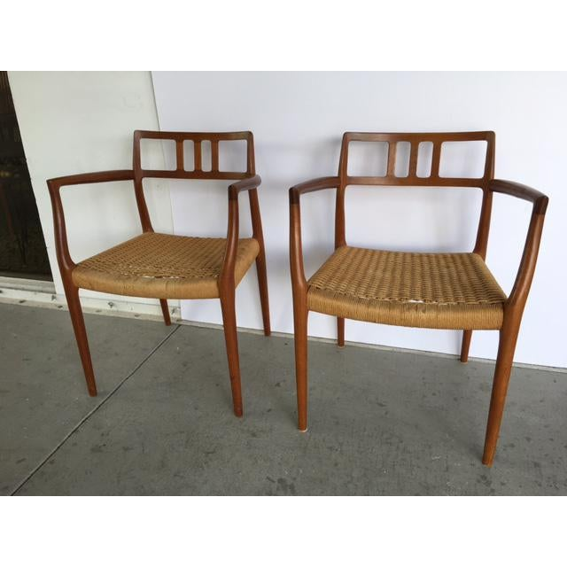 Danish Modern Niels Moller Model 64 Danish Modern Chairs - A Pair For Sale - Image 3 of 10