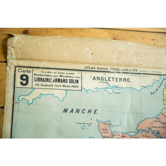 Denoyer-Geppert Antique Pull Down Map of France For Sale - Image 4 of 6