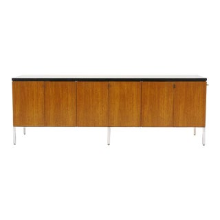 Florence Knoll Walnut Credenza For Sale