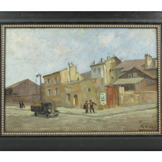 Early 20th Century French Street Scene Oil Painting Signed R. Gori - Image 2 of 8