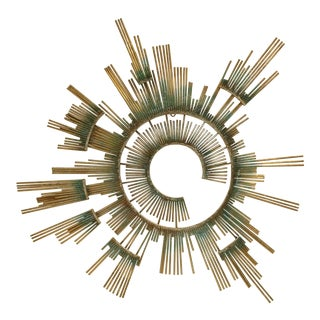 1980s Curtis Jere Retro Modern Abstract Wall Sculpture For Sale
