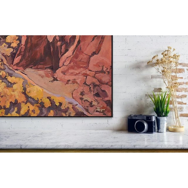 'Canyon De Chelly 1' Painting From the Red Rock Canyons Series by Contemporary Expressionist George Brinner For Sale - Image 4 of 5