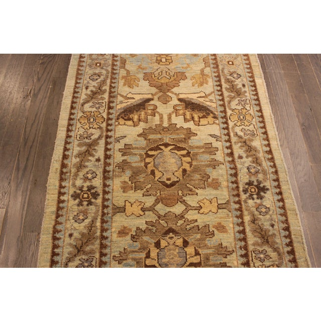 """Persian Sultanabad Rug - 3'2"""" x 13'9"""" - Image 6 of 10"""