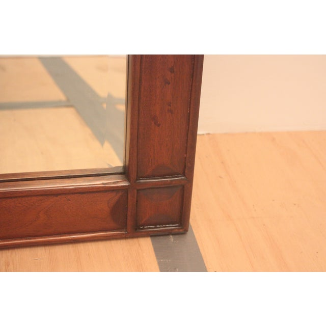 Pediment Detail Beveled Mirror For Sale - Image 5 of 11