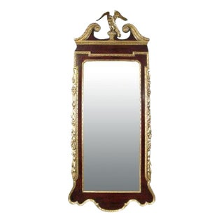 18th Century English Mahogany and Parcel Gilt Mirror For Sale