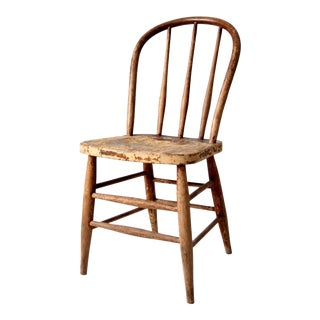 Antique Windsor Bow Back Chair For Sale