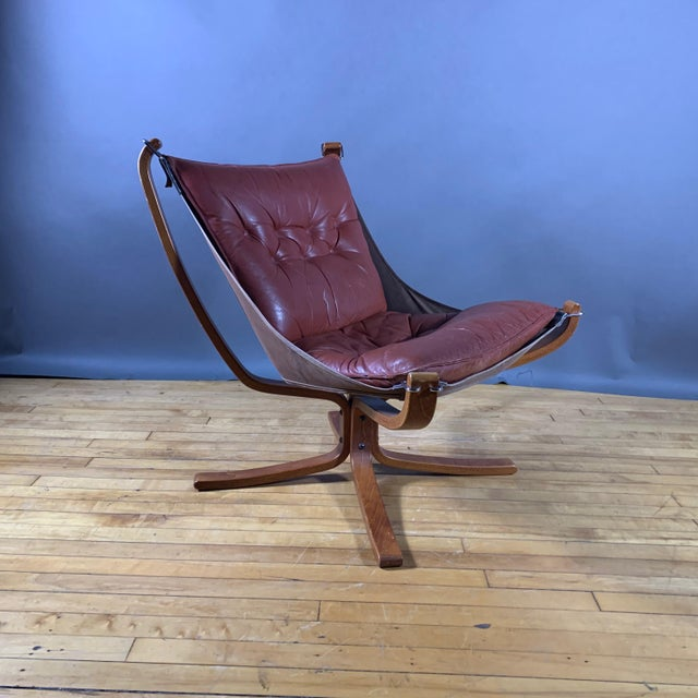 """Sigurd Ressell Low Back """"Falcon"""" Chair, 1970s, Norway For Sale - Image 11 of 11"""