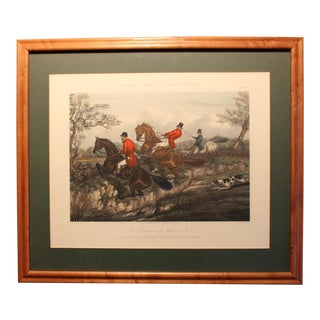 """Mid 19th Century Antique J. Harris """"Fores's Hunting Sketches: The Right & Wrong Sorts or a Good & Bad Style of Going Cross Country"""" Print For Sale"""