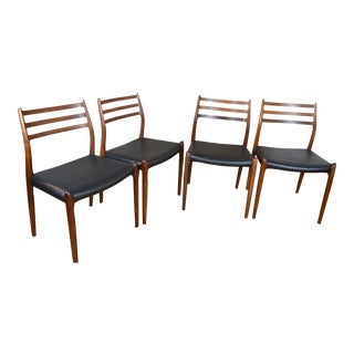 Set of Four Model 78 j.l. Mollers Dining Chairs in Rosewood For Sale