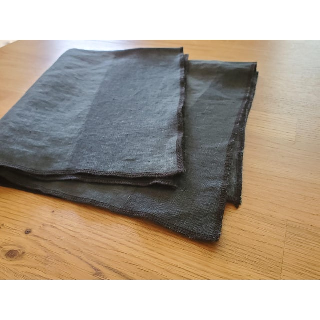Modern Tea Towels Blue/Green Two Tone - a Pair For Sale - Image 3 of 4