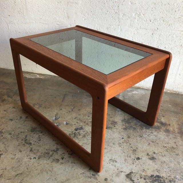Vintage Mid Century Modern Danish Side Table by Komfort Furniture For Sale - Image 11 of 11