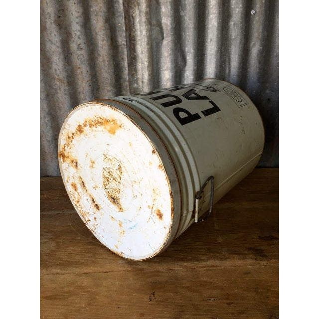Vintage Lard Container From Oklahoma For Sale - Image 7 of 11