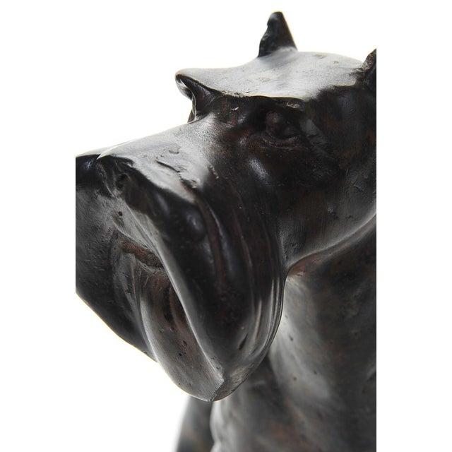 1920s Bronze Scottie Dog Sculpture - Image 3 of 9