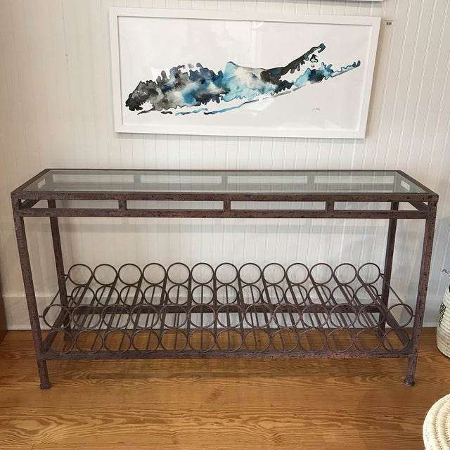 Wrought Iron Wine Rack Console Table For Sale - Image 13 of 13