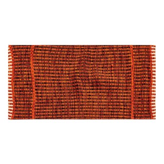 Ayotte's Designery Handwoven Wool Throw Rug, Circa 1960