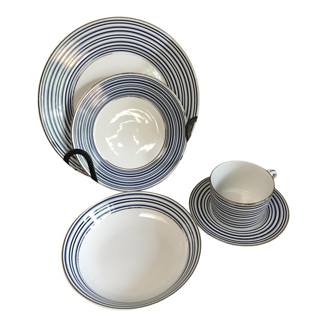 Ralph Lauren Regatta Stripe Place Setting - 5 Pieces - Image 1 of 8