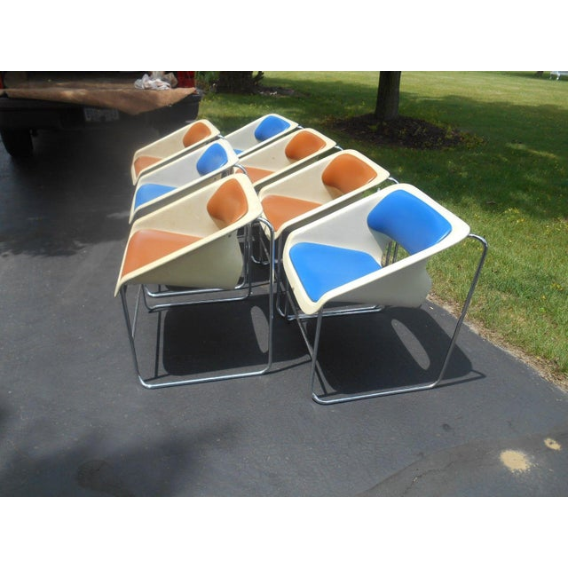 """Artoplex """"Lotus"""" Stacking Chairs - A Pair - Image 9 of 11"""