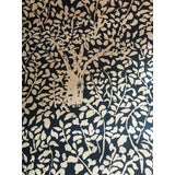 Image of Traditional China Seas Quadrille Arbre De Matisse Reverse in Blue Linen Blend Fabric - 2 2/8 Yards For Sale