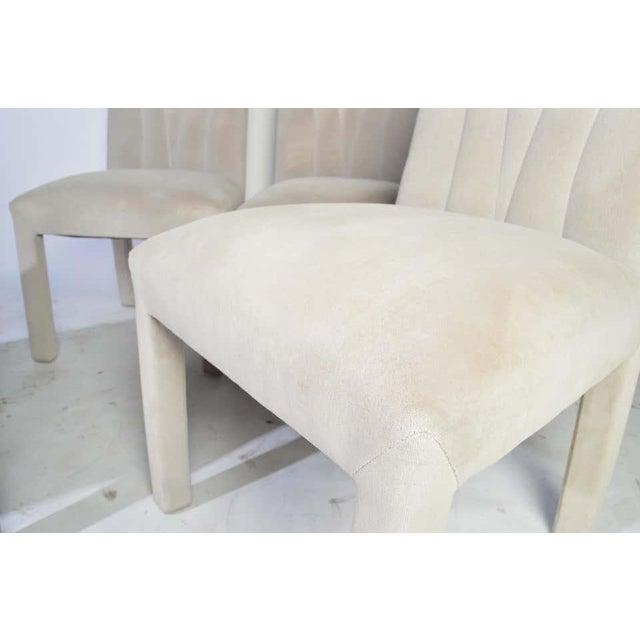 Art Deco Art Deco Revival Hollywood Regency Dining Chairs in Soft Velvet For Sale - Image 3 of 11