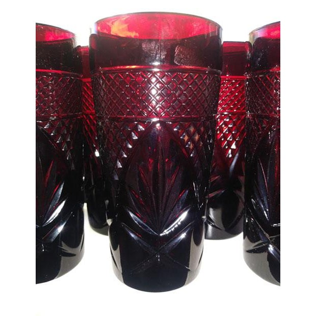 Cristal d' Arques Antique Ruby Glasses by Cristal d'Arques-Durand - Set of 6 For Sale - Image 4 of 7