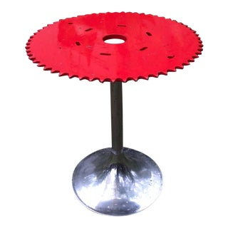 Industrial Gear Indoor/Outdoor Cocktail Table