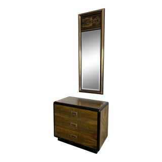 1960s Mastercraft Chest and Matching Mirror by Bernhard Rohne-a Pair For Sale