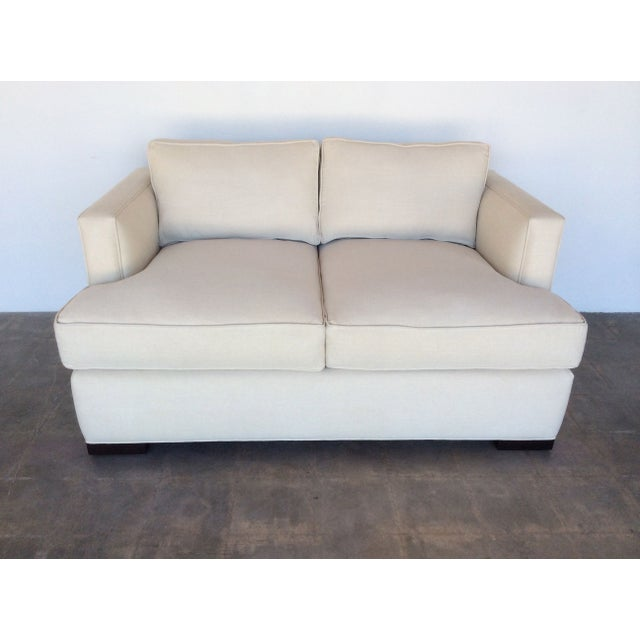 Contemporary White Love Seat - Image 2 of 7