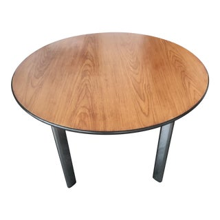 1990s Industrial Knoll International D'Urso Round Dining Table For Sale