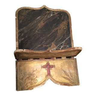 19th Century Book Bible Picture Stand From French Church