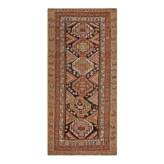 """Antique Persian Kuridsh Rug, 3'8""""x 7'5"""" For Sale"""