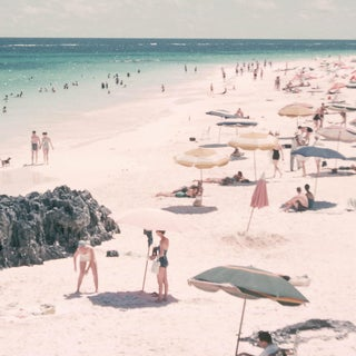 1960s Vintage Summer Beach Umbrellas Photograph Print Preview