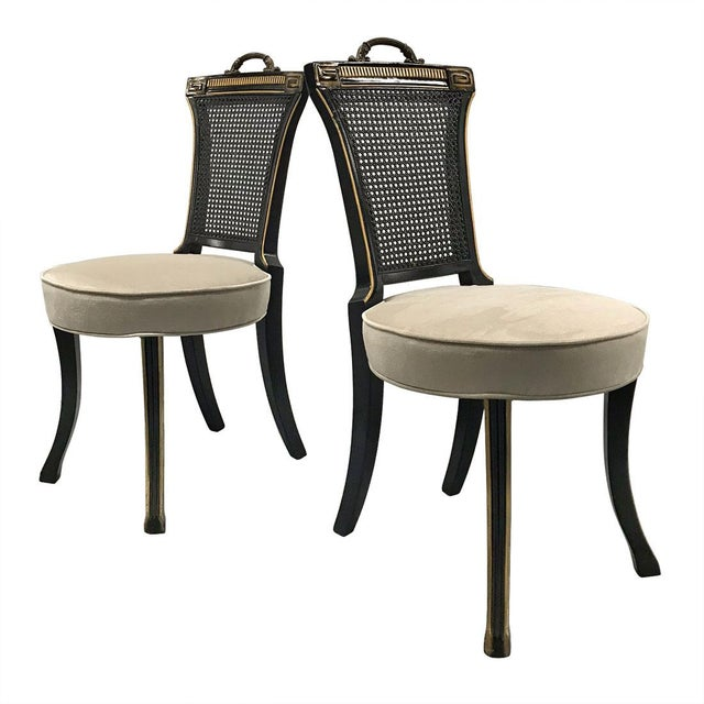 1960s Neoclassical Side Chairs — a Pair For Sale - Image 11 of 11