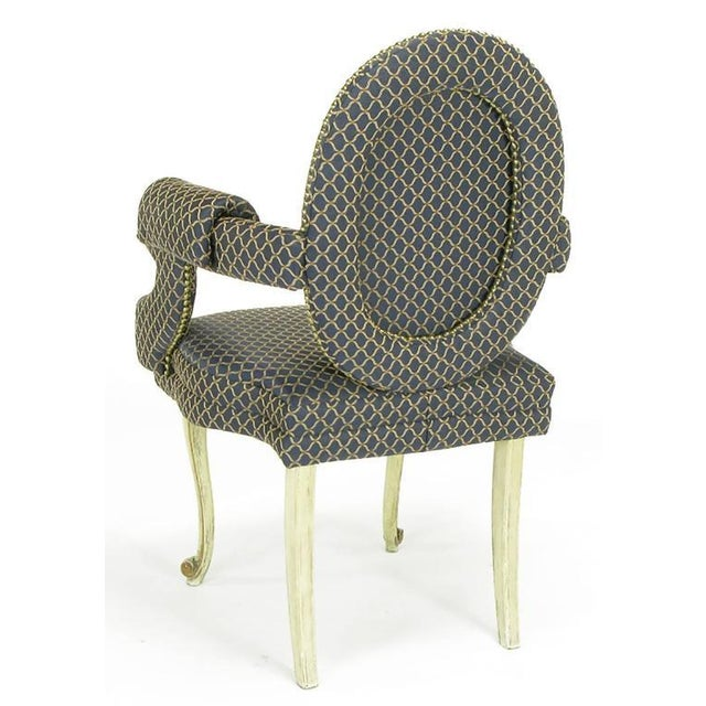 Four Louis Modern Custom Dining Armchairs - Image 4 of 9