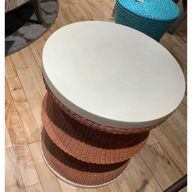 Curate Home Collection Boho Chic Curate Home The Whimsy Drum Table For Sale - Image 4 of 5