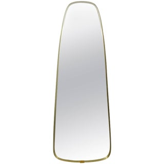 Midcentury Modern Hollywood Regency La Barge Oval Wall Mirror, 1960s For Sale