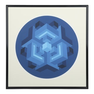 1970s Centron Ii Serigraph by Brian Halsey For Sale