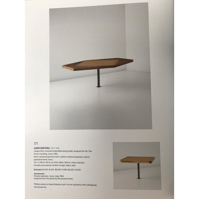 Mid 20th Century Phillips Auction House Italian Floor Mounted Dining Table For Sale - Image 5 of 7