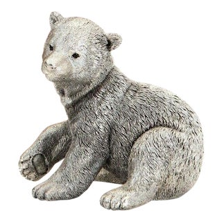 William Comyns Filled Silver Polar Bear Figurine For Sale