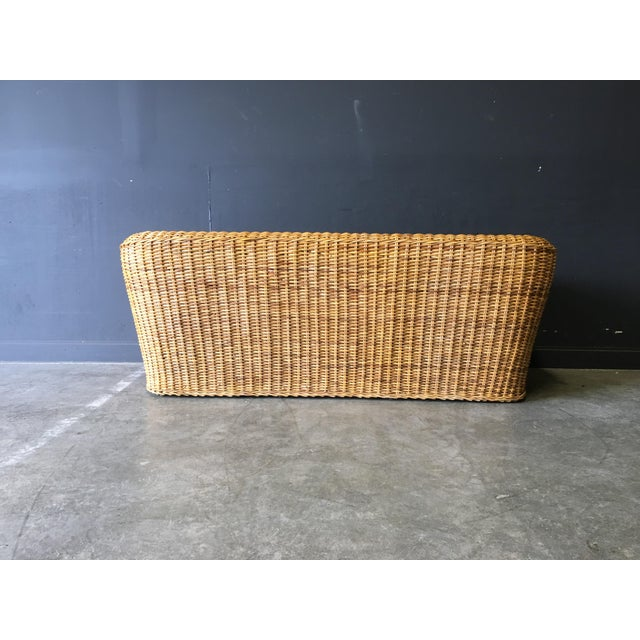 1970s Vintage Mid-Century Modern Wicker Sofa For Sale - Image 5 of 12
