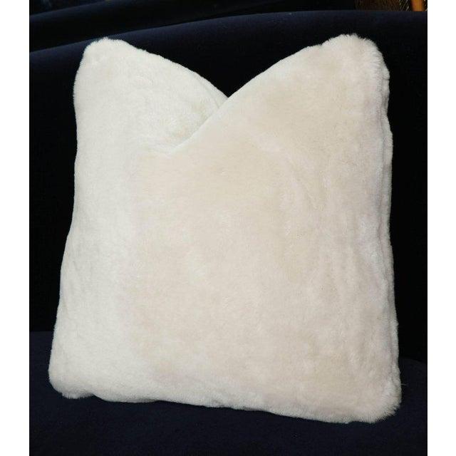 Genuine shearling pillow.